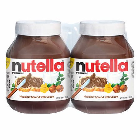 - Nutella Hazelnut Spread 33.5 oz, 2-count