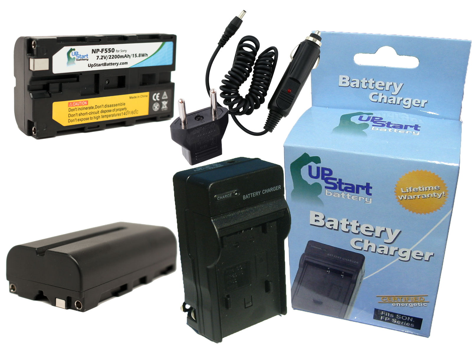 2200mAh 7.2V Lithium-Ion Compatible with Sony NP-F550 Digital Camera Batteries and Chargers Replacement for Sony NEX-FS100 Battery and Charger