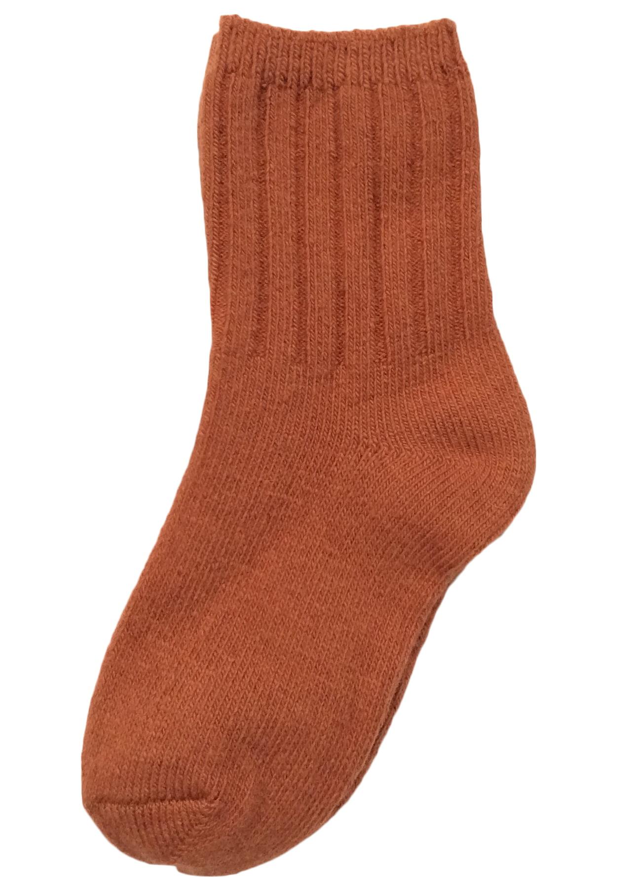 Lovely Annie Children 4 Pairs Wool Tube Socks Solid 0Y-2Y(Red)