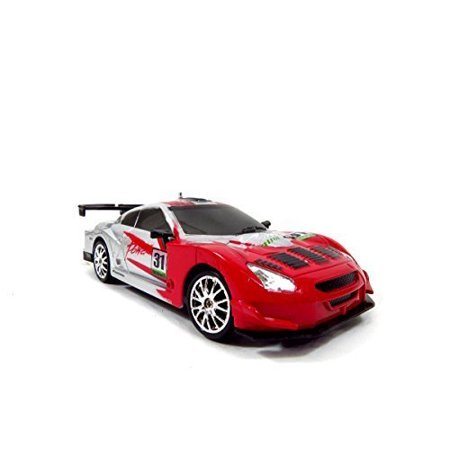 TeamRCÃ'Â Super Fast Drift King R/C Sports Car Remote Control Drifting Race Car 1:24 + Headlights, Backlights, Side Lights + 2 Sets of Tires (Red) by, By Team RC Ship from US