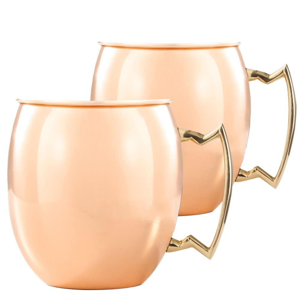 Modelli Creations Handmade Moscow Mule 16-ounce Copper Mugs (India)