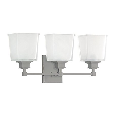 Hudson Valley Lighting 1953-SN Three Light Wall Sconce from the Berwick Collection, Satin Nickel Hudson Valley Lighting Nickel Sconce