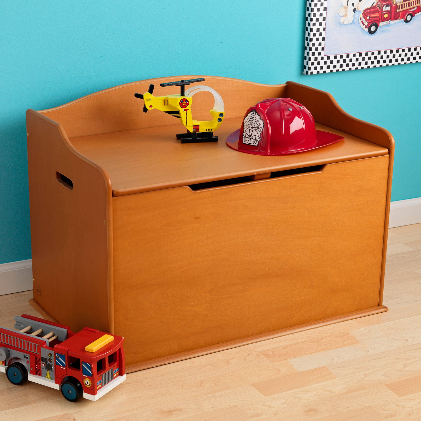 Charmant KidKraft Austin Wooden Toy Organizer Storage Chest Box And Sitting Bench,  Cherry   Walmart.com