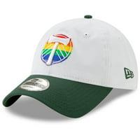 Portland Timbers New Era Pride 9TWENTY Adjustable Hat - White - OSFA