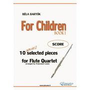 For Children - Easy Flute Quartet ( SCORE) - eBook