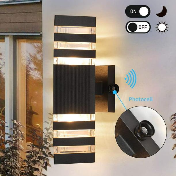 Dusk To Dawn Sensor Outdoor Wall Lights, Modern Garage Sconce Lights