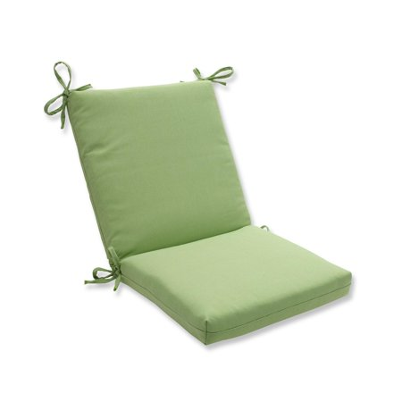"36.5"" Solid Lime Tweed Outdoor Patio Chair Cushion with Ties"