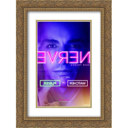 Nerve 18X24 Double Matted Gold Ornate Framed Movie Poster Art Print