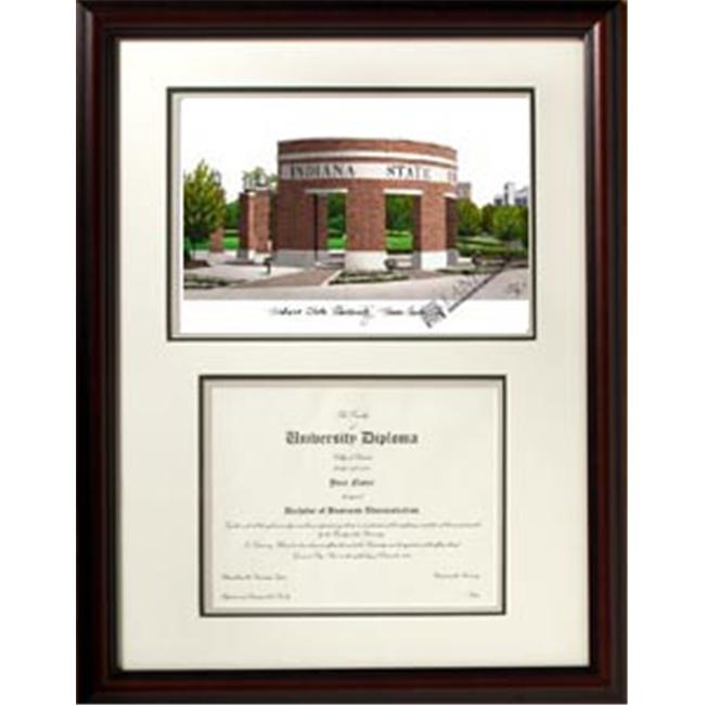 Campus Images IN986V Indiana State University Scholar Frame