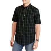 Men's Short Sleeve Plaid Woven Shirt