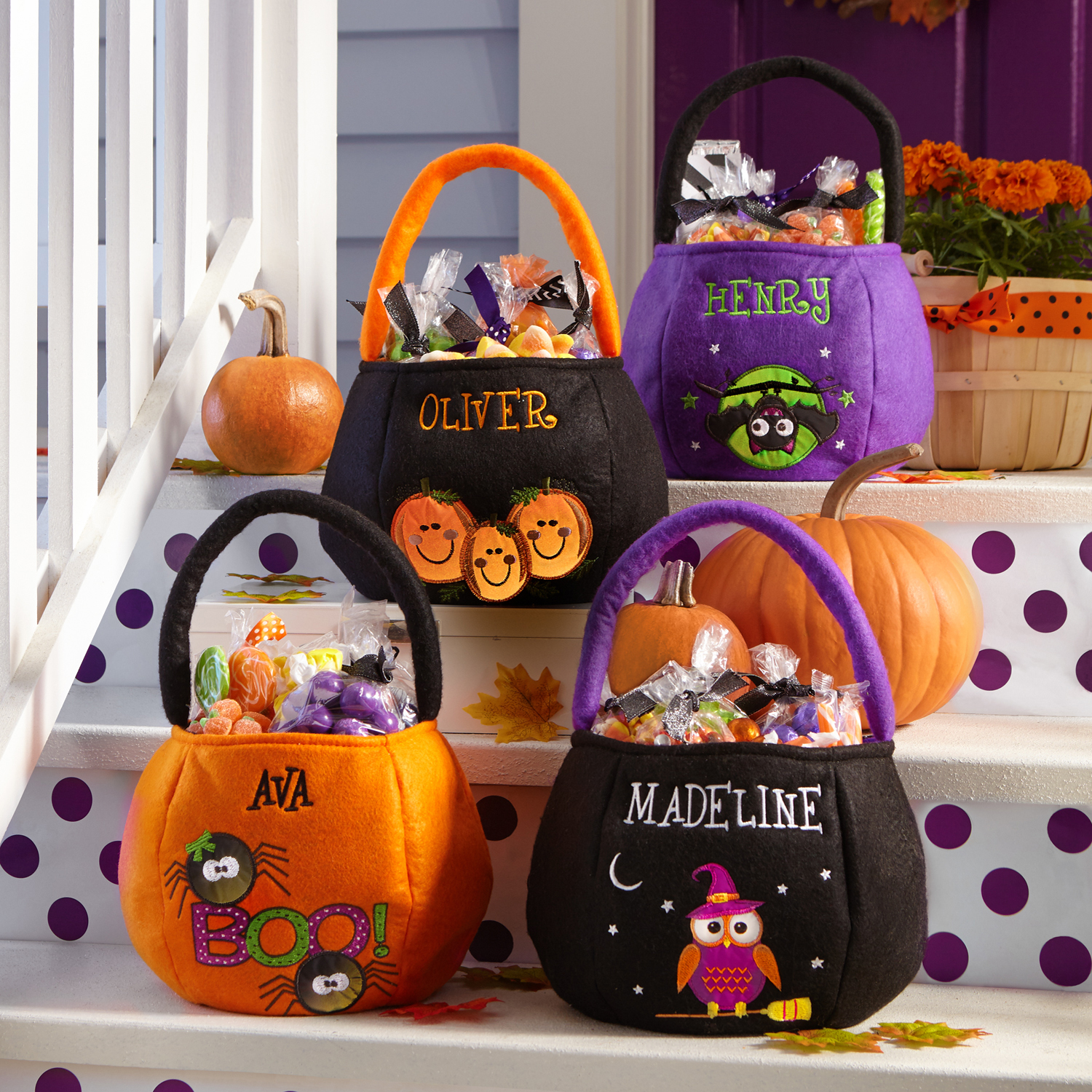Personalized Safe and Smart Reflective Halloween Treat Bag