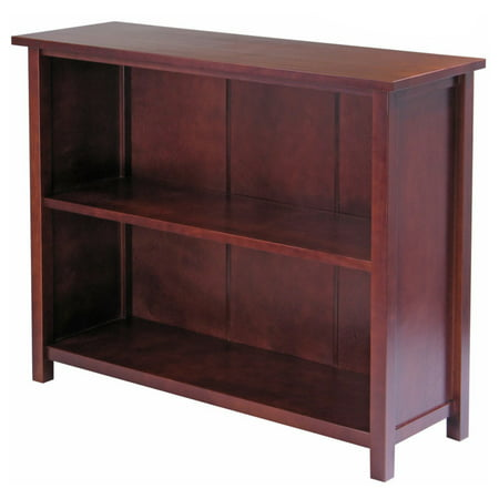 Milan 3-Shelf Bookcase, Antique Walnut