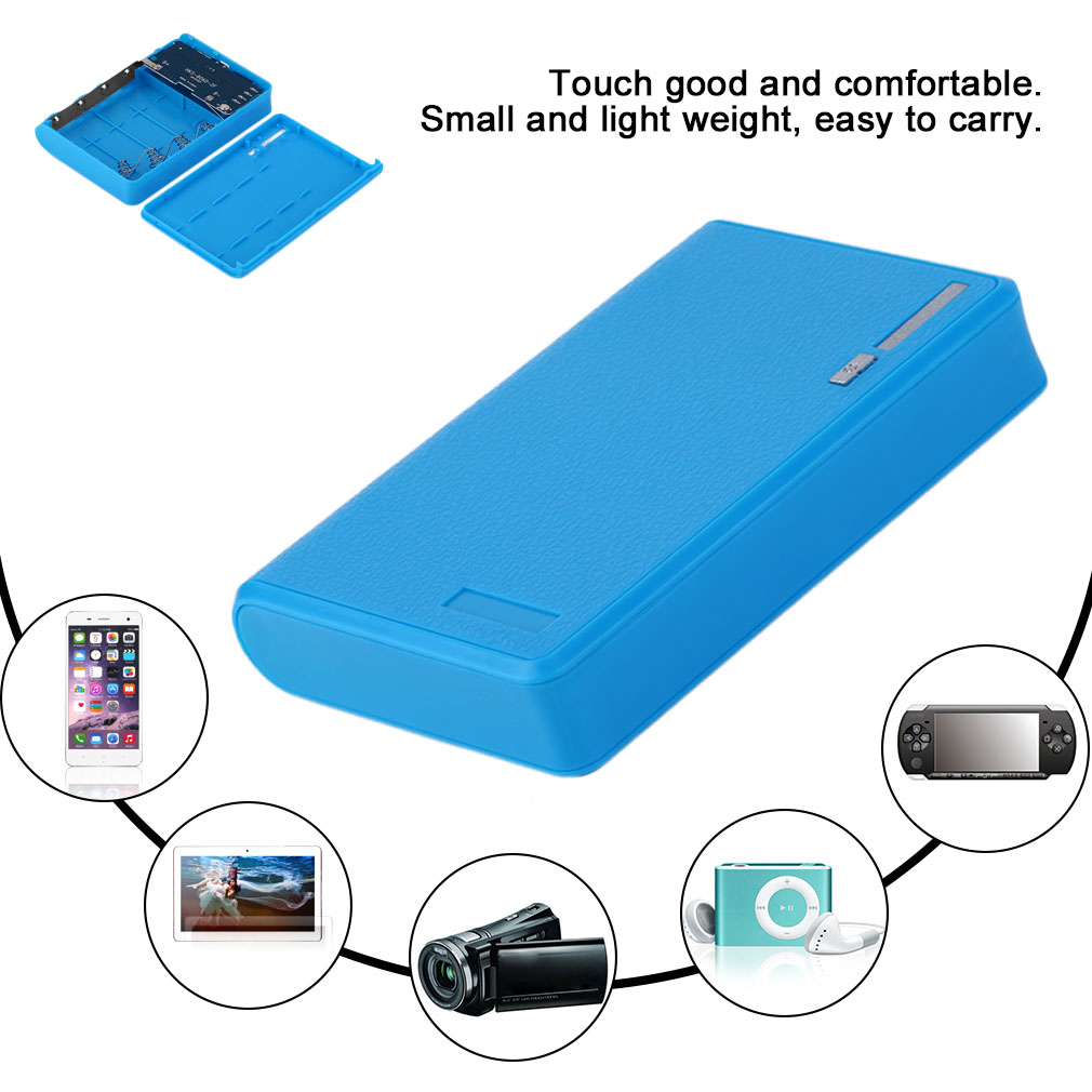 NEW 10400MAH Portable 4*18650 Battery External Power Bank Phone Battery Charger