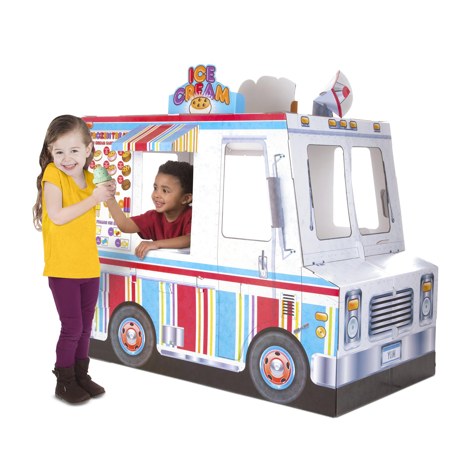 Melissa Doug Food Truck Indoor Corrugate Playhouse Over 4