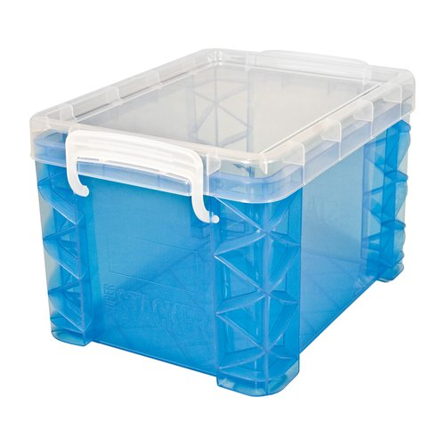 Super Stacker 2.13 Gal. Large Box with Snap-Lock Handles, Blue