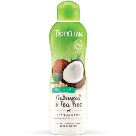 - TropiClean Oatmeal & Tea Tree Pet Shampoo, 20 Oz