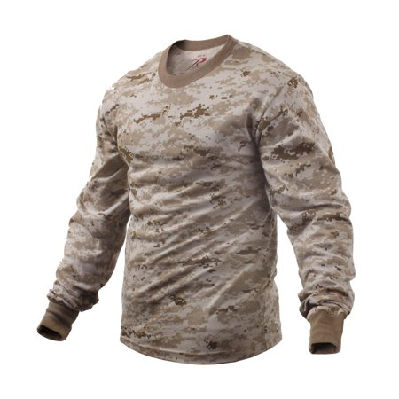 Long Sleeve Digital Camouflage T-Shirt, Desert Digital