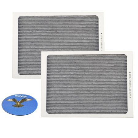 HQRP Carbon Air Filter (2-pack) for Frigidaire Gallery & Professional series Side-by-Side / French door Refrigerators, EAFCBF PAULTRA Replacement + HQRP
