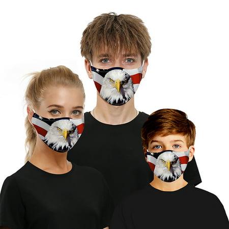 3d Fun Mouth Mark Fabric Facemask Washable Hip Hop Party Magic Womens Mens Kids thumbnail