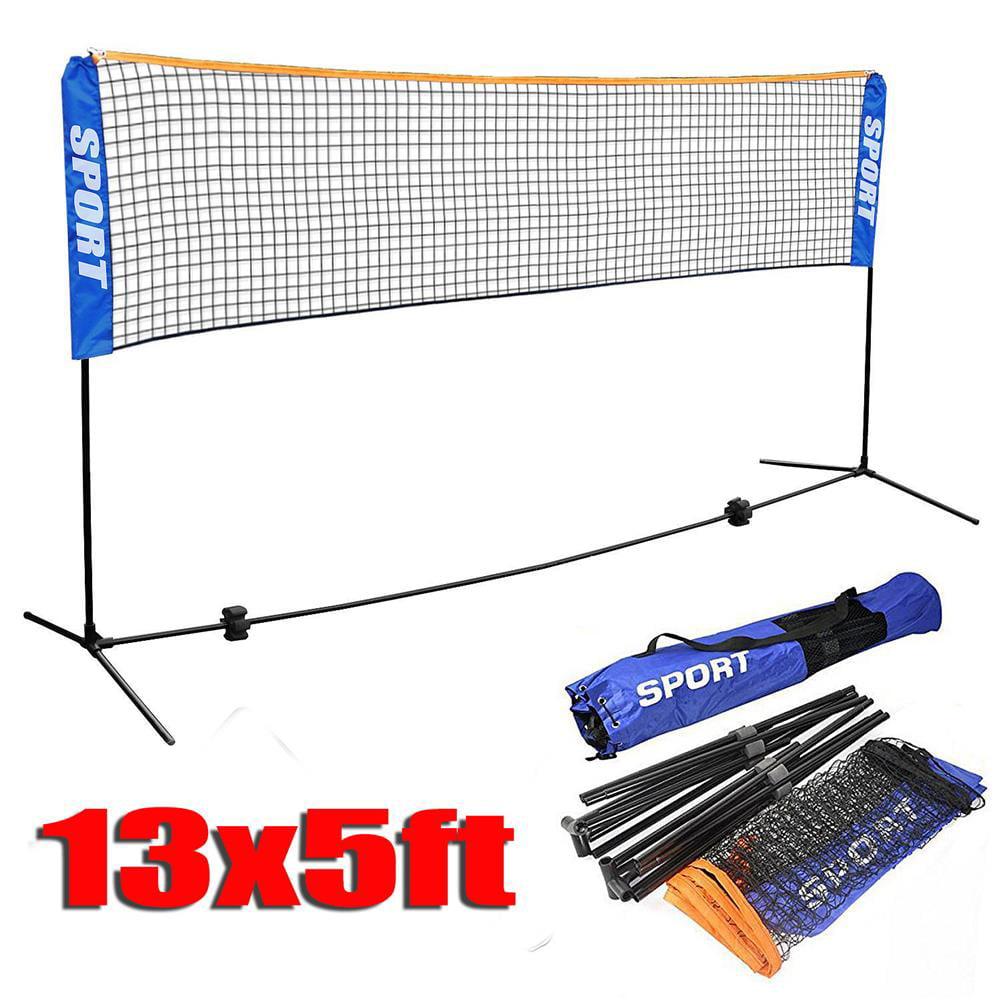 13 Ft Portable Badminton Tennis Volley Net Set Adjustable Height Net With Poles Frame Stand Indoor Outdoor Professional Sports Training Net Walmart Com Walmart Com