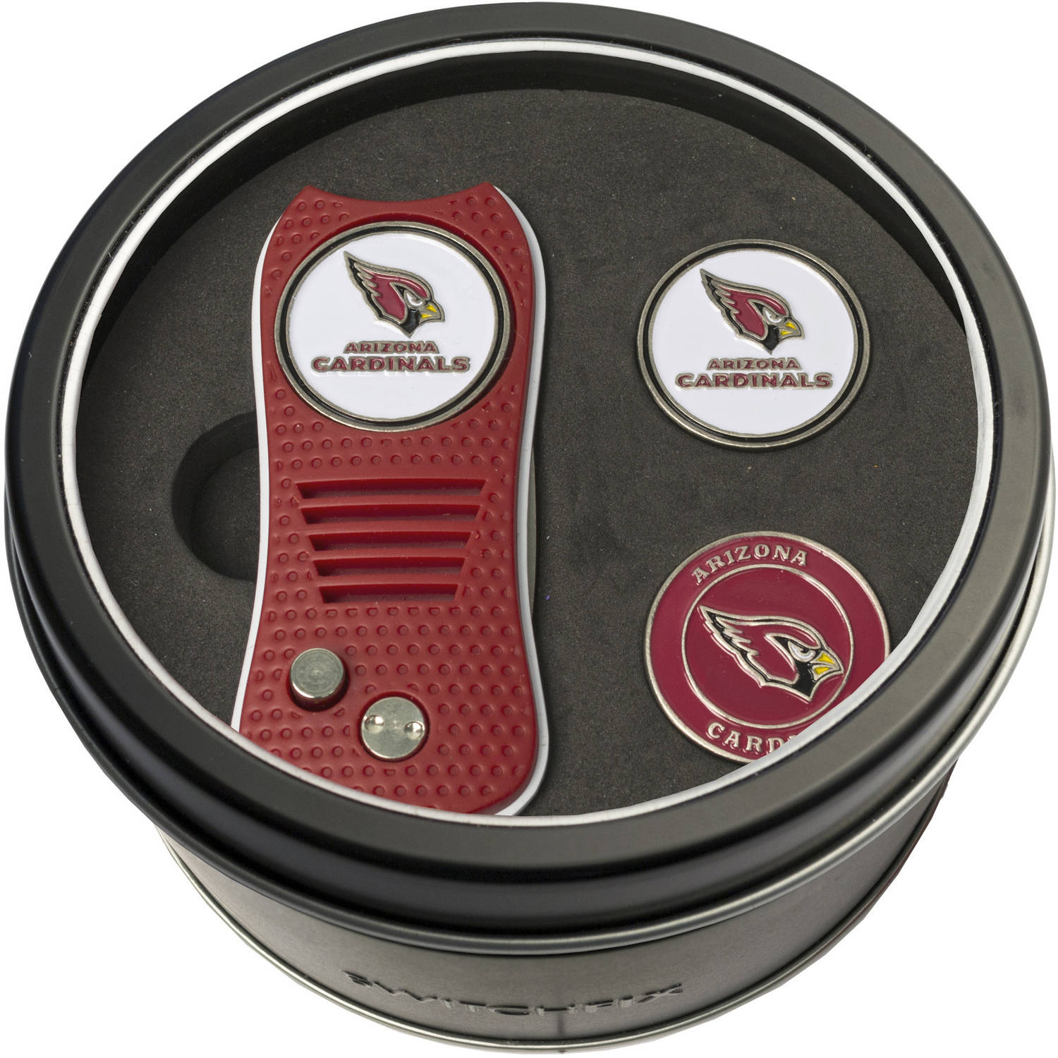 Team Golf NFL Tin Gift Set with Switchfix Divot Tool and 2 Ball Markers