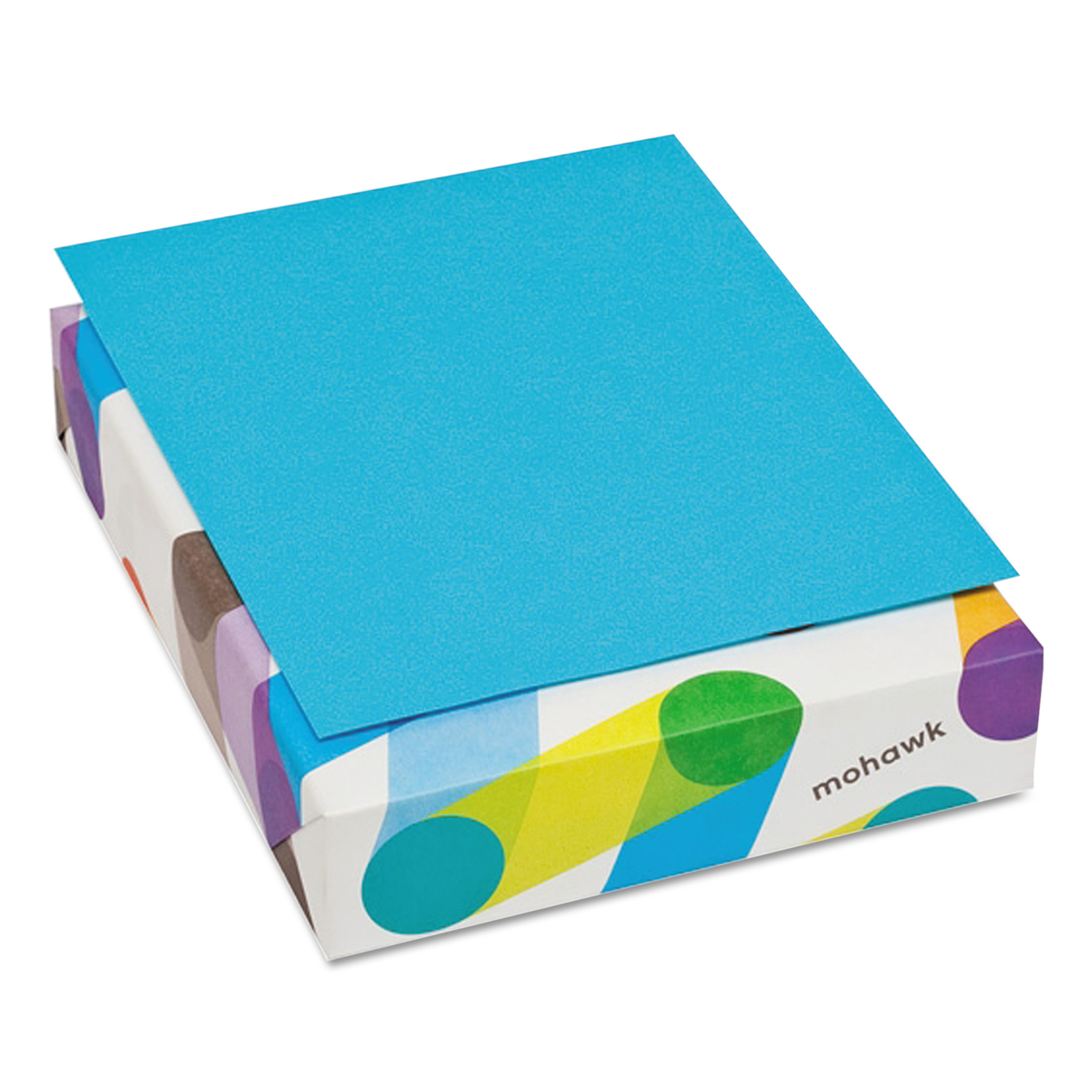 Mohawk BriteHue Multipurpose Colored Paper, 24lb, 8 1/2 x 11, Blue, 500 Sheets