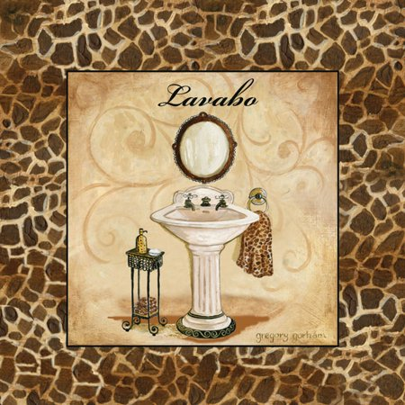 Giraffe Lavabo Modern French Lovely Classy Amazing Antique Print Cool Soap Superb Decoration 12X12
