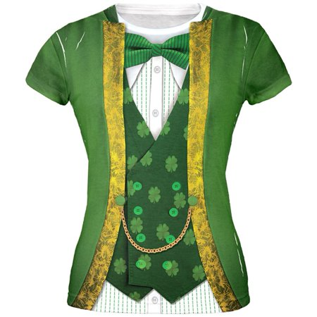 Leprechaun Costumes (St. Patricks Day Leprechaun Costume All Over Juniors)
