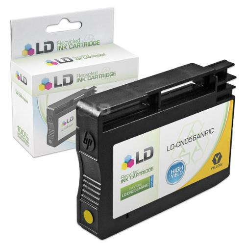 LD Remanufactured Replacement Ink Cartridge for Hewlett Packard CN056AN 933XL / 933 High-Yield Yellow for use in OfficeJet 6100, 6600, 6700, 7110 ePrinter & 7610 Printers