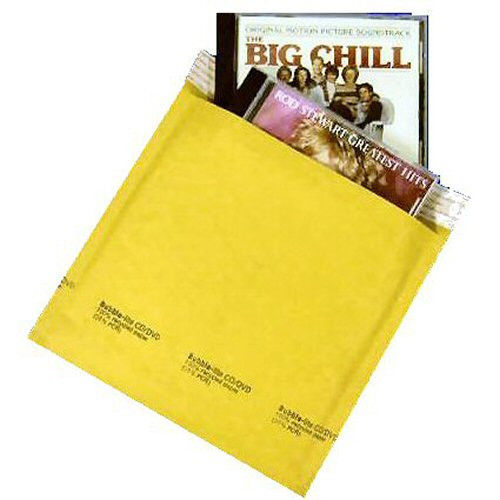 "250 #CD 7.25"" X 8"" Kraft (usable space 7.25"" x 7.5"") Bubble Lite Padded Shipping Envelopes Mailers"