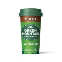 Green Mountain Coffee Shots - 100mg Caffeine, Mocha, Premium coffee energy boost in a ready-to-drink 2-ounce shot (6 pack)