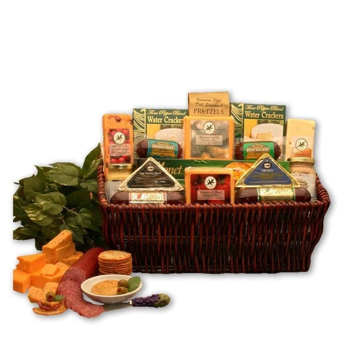 Gift Basket Drop Shipping The Classic Gourmet Meat & Cheese Small Sampler Handpacked Basket