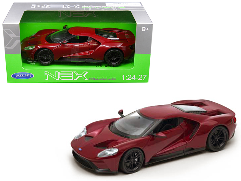 Ford Gt Red  Cast Model Car By Welly