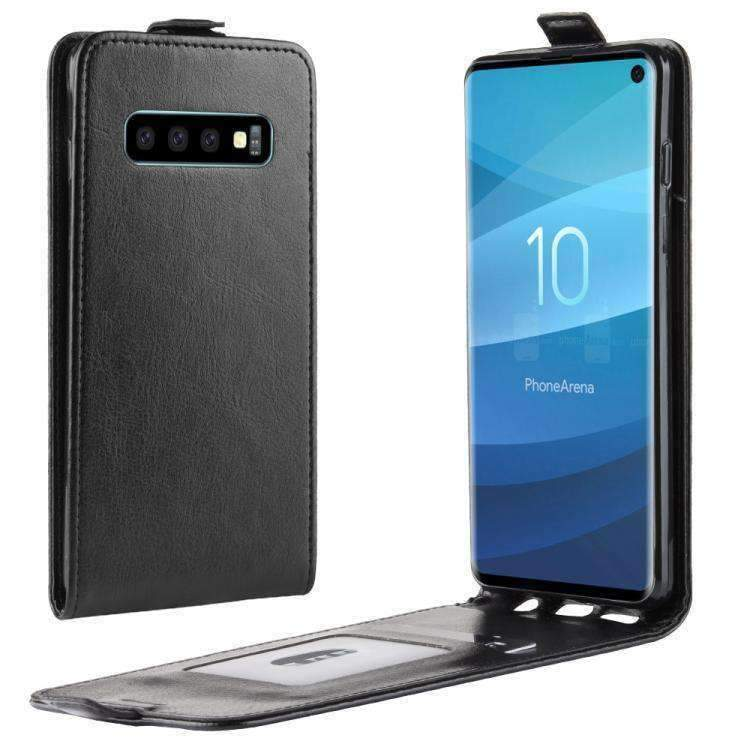 Flip Case for Samsung Galaxy S10 Luxury Leather Wallet Cover with Viewing Stand and Card Slots Bussiness Phone Case with Free Waterproof-Case