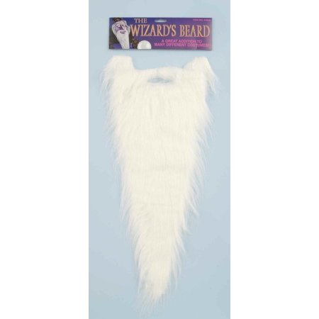 Long White Wizard Beard Costume Accessory Gandalf Waldo Wally Dumbledore - Waldo Wizard Costume