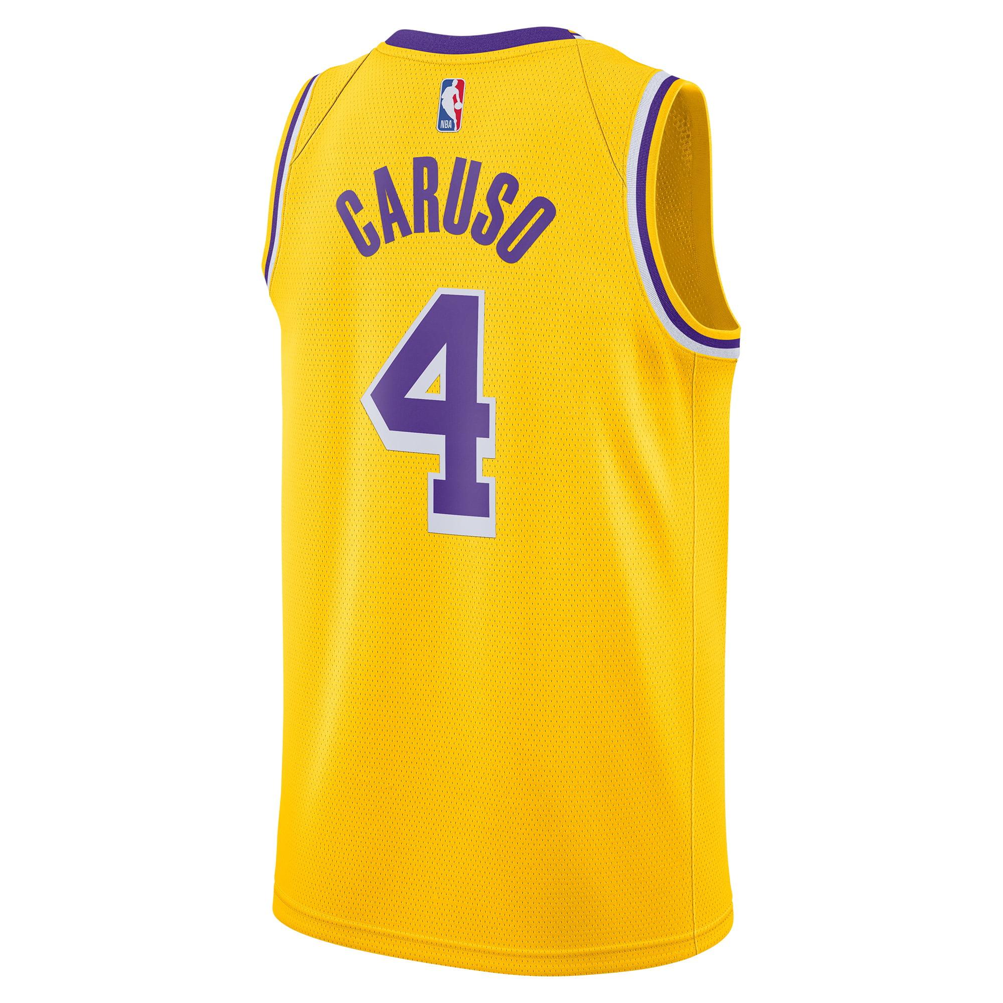 Alex Caruso Los Angeles Lakers Nike 2020/21 Swingman Jersey Yellow ...