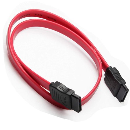 TSV 17.72in 45CM 7 Pins Red SATA Male to SATA Male Serial ATA Data Cable Hard Drive Disk Straight Signal Cables for Hard Drive HDD (Ata 100 44 Pin)
