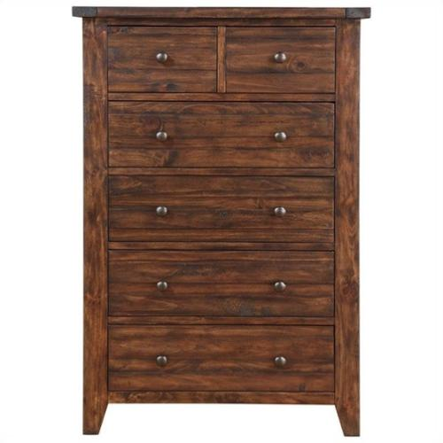 Cally Solid Wood Chest - Antique Mocha