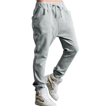Men Stretchy Waist Design Sports Wear Light Gray Casual Pants W28/30 - image 7 of 7