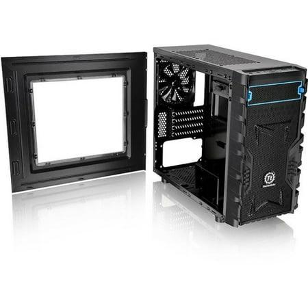 - Thermaltake Versa H13 M-ATX Gaming Chassis - Micro Tower - Black - SPCC - 4 x Bay - 1 x 4.72