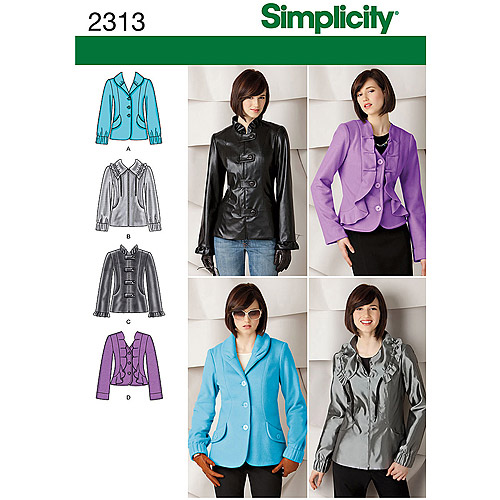 Simplicity Pattern Misses' Jackets/Coats, (6, 8, 10, 12, 14)