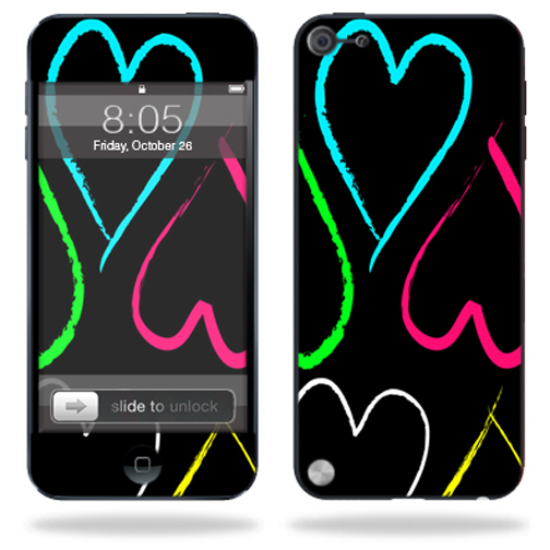Mightyskins Protective Skin Decal Cover for Apple iPod Touch 5G (5th generation) MP3 Player wrap sticker skins Hearts