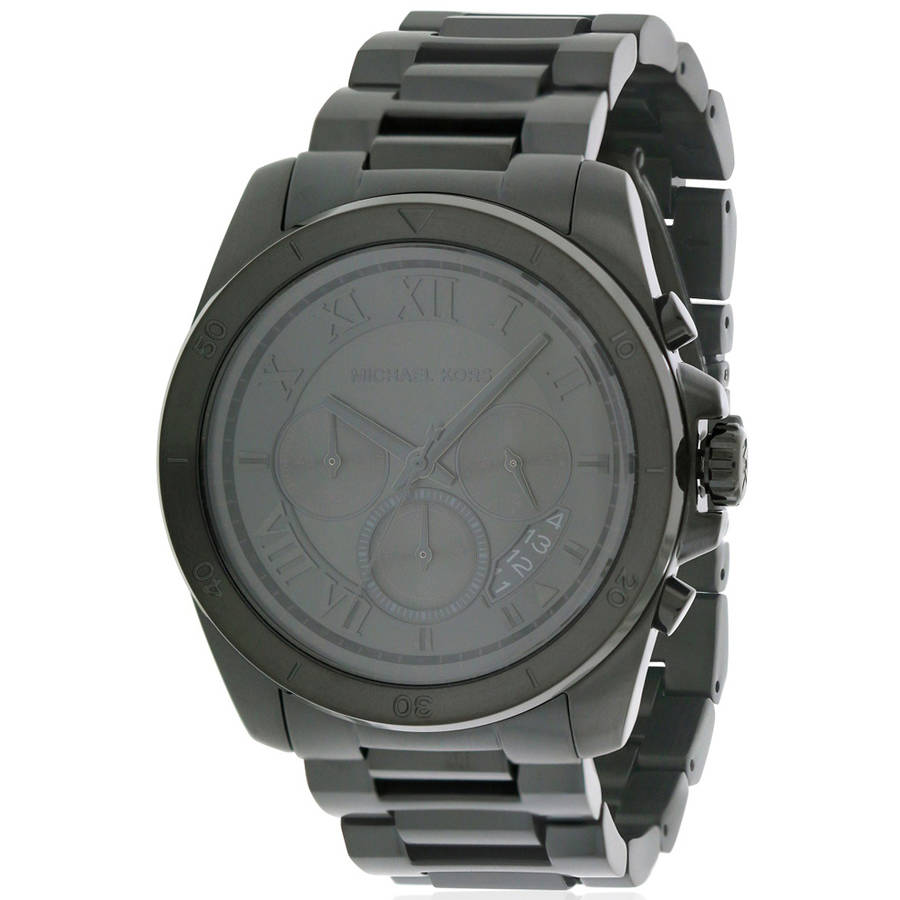 Michael Kors Brecken Black IP Chronograph Mens Watch MK8482 by Michael Kors