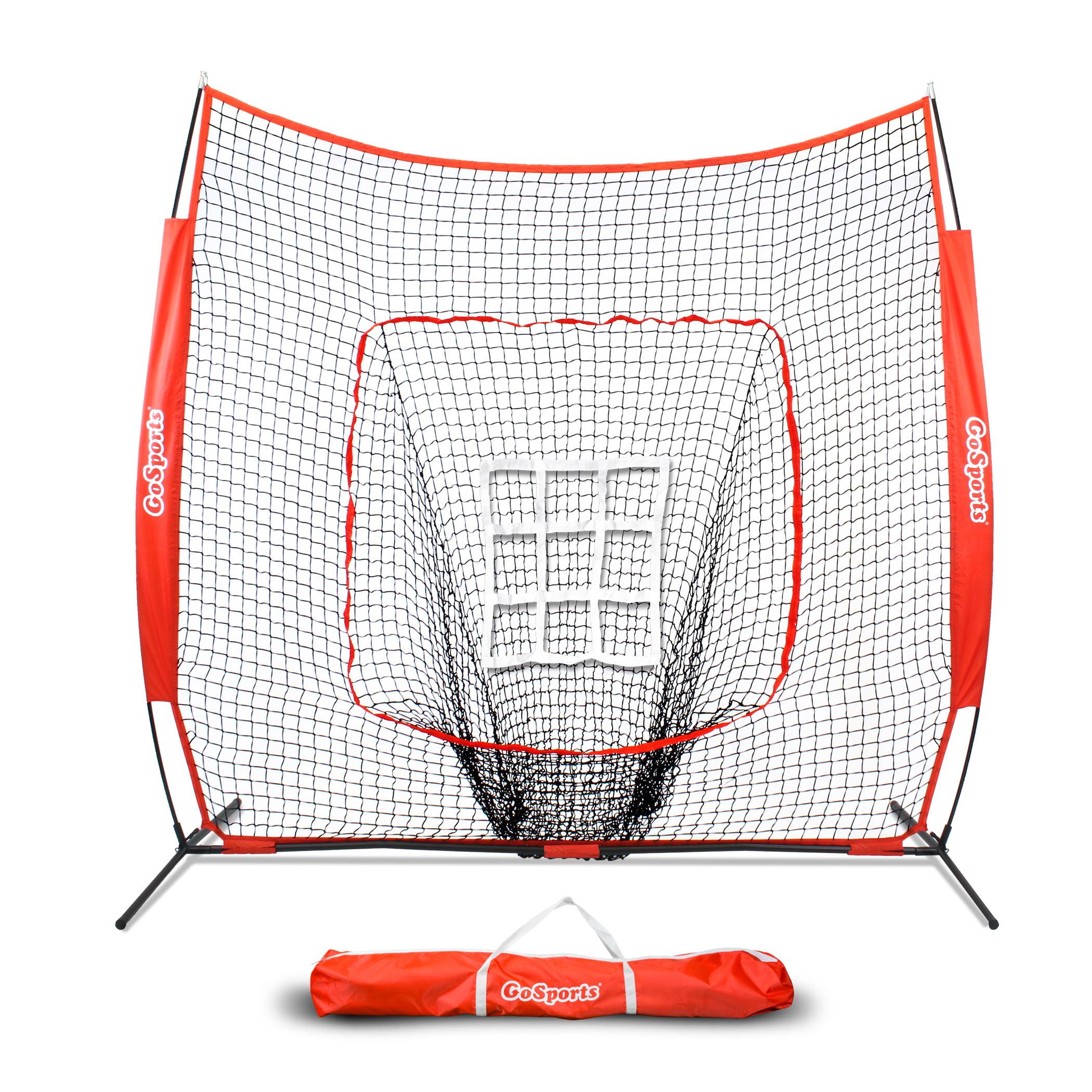 GoSports 7'x7' Baseball & Softball Practice Pitching & Fielding Net with Bonus Strike Zone