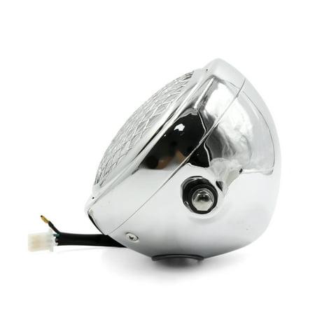 6.3inch Dia 12V 35W Silver Tone Yellow Light Headlamp w Black Bracket for Motorcycle - image 1 de 3