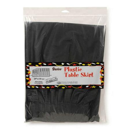 Plastic Table Skirt - Velvet Black - 29 inches x 14 feet](Natural Raffia Table Skirt)