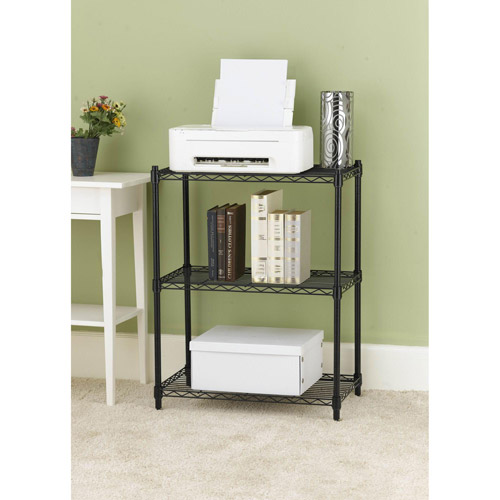 . 4 Tier Wire Shelving Unit  Black   Walmart com