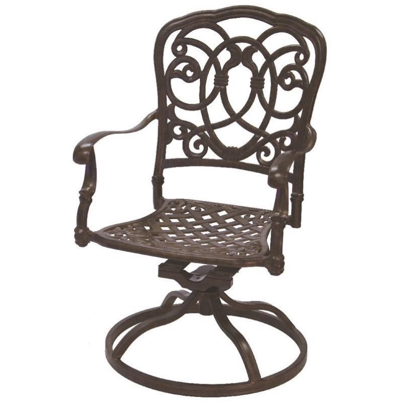 Darlee Florence Swivel Patio Dining Chair with Cushion (Set of 2)