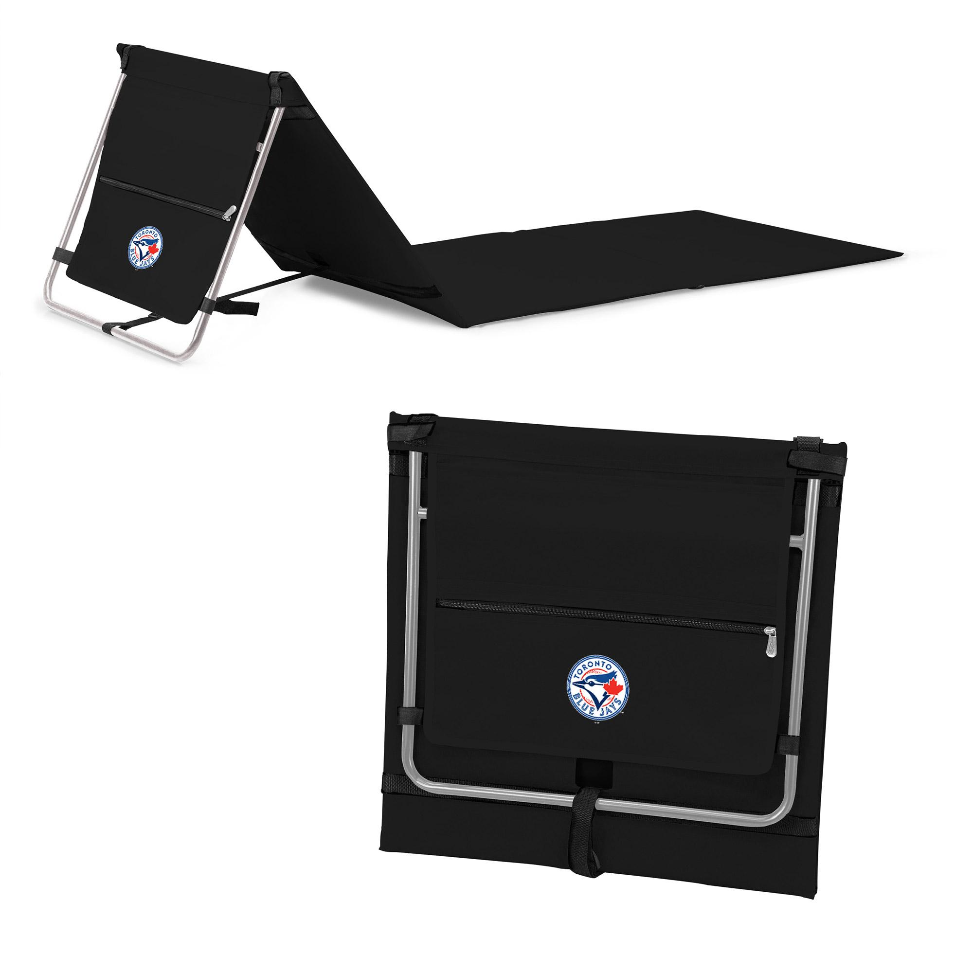 Toronto Blue Jays Portable Lounger Beach Mat - Black - No Size