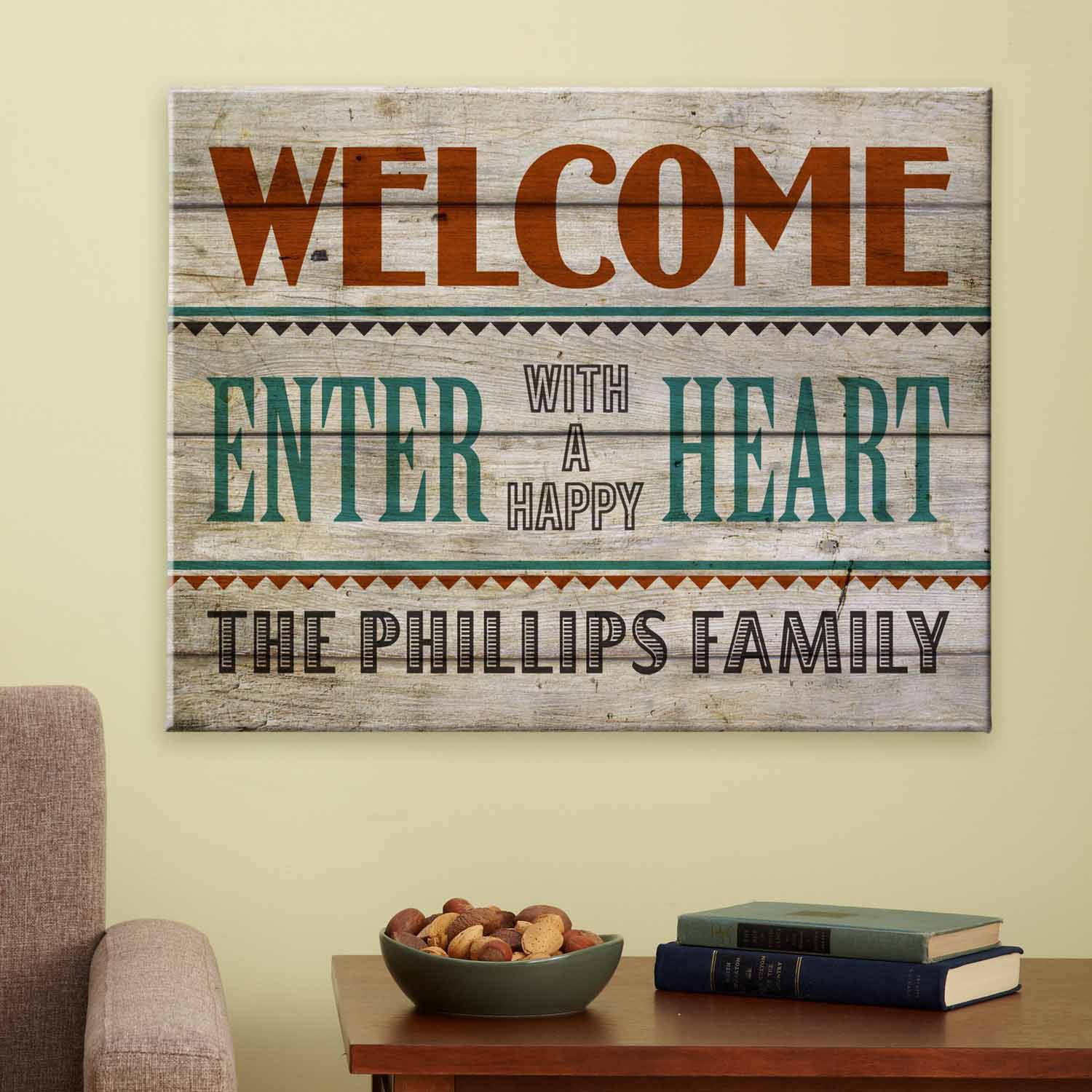 Personalized Happy Heart Canvas